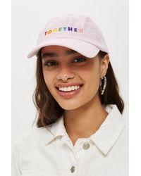 TOPSHOP - 'together' Slogan Cap - Lyst