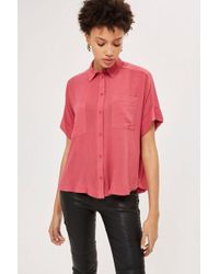 TOPSHOP - Short Sleeved Shirt - Lyst