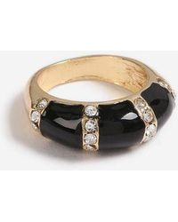 TOPSHOP - enamel Crystal Ring - Lyst