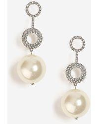 TOPSHOP - Pearl Ball Drop Earrings - Lyst