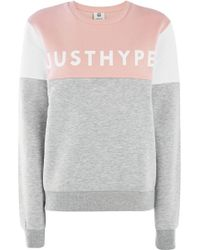 Hype - Multi Panel Just Crew Neck Sweatshirt By - Lyst