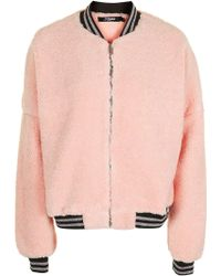 Jaded London - Pink Oversized Bomber By - Lyst