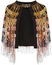 Jaded London - Sequin Fringed Cape By - Lyst