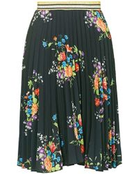Wal-G - Pleated Floral Midi Skirt By - Lyst
