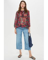 TOPSHOP - maternity Over The Bump Cropped Jeans - Lyst