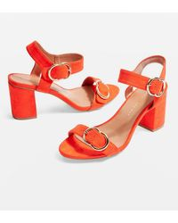 TOPSHOP - Wide Fit Samba Two Part Sandals - Lyst