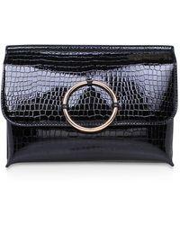 Miss Kg - Hoop Black Clutch Handbag By Miss Kg - Lyst