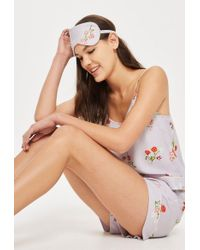 TOPSHOP - Poppy Print Eye Mask - Lyst