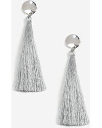 TOPSHOP | Stud Tassel Drop Earrings | Lyst