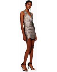 TOPSHOP - Rainbow Metallic Wrap Dress - Lyst