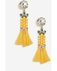 TOPSHOP - Pineapple Drop Earrings - Lyst