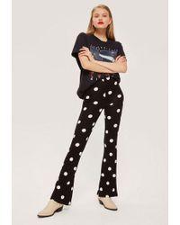TOPSHOP - Petite Polka Dot Flare Trousers - Lyst