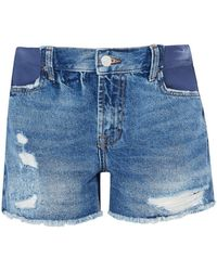 TOPSHOP - Maternity Ripped Ashley Shorts - Lyst