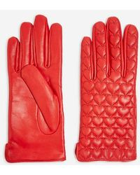 TOPSHOP - Heart Quilted Touchscreen Gloves - Lyst