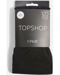 TOPSHOP | Black 120 Denier Opaque Tights | Lyst