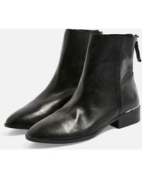 f5cebddb302 Lyst - TOPSHOP Bellini Stiletto Over The Knee Boot in Black