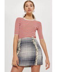 TOPSHOP - Boucle Mini Skirt - Lyst