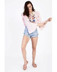 Glamorous - Embroidered Blouse By - Lyst