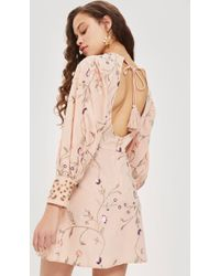 TOPSHOP - Petite Embroidered Floral Shift Dress - Lyst