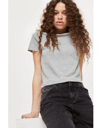 TOPSHOP - Petite Basic Cropped T-shirt - Lyst