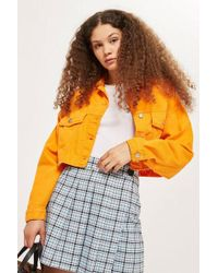 TOPSHOP - Tall Check Kilt Skirt - Lyst
