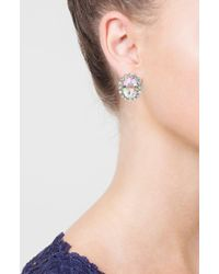 TOPSHOP | Oval Crystal Stud Earrings | Lyst