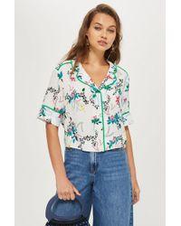 TOPSHOP - Monkey Print Pyjama Shirt - Lyst