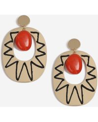 6f0c88529 Lyst - TOPSHOP Christmas Candy Cane Heart Earrings in Red