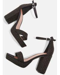 TOPSHOP - Sloane Woven Platform Sandals - Lyst