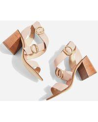 TOPSHOP - Buckle Sandals - Lyst
