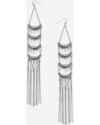 TOPSHOP - Layered Chain Drop Earrings - Lyst