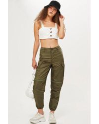 TOPSHOP - Oversized Combat Trousers - Lyst