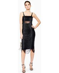 TOPSHOP - Fringe Bodycon Dress - Lyst