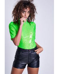 Jaded London - Neon Green Sequin Body By - Lyst