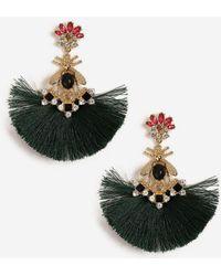 TOPSHOP - Rhinestone Fan Tassel Earrings - Lyst