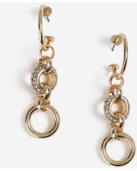 TOPSHOP - Circle Link Drop Earrings - Lyst