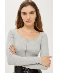TOPSHOP - Long Sleeve Ring Pull Body - Lyst