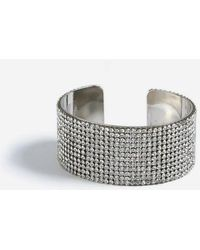 TOPSHOP - silver Rhinestone Cuff - Lyst