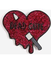 TOPSHOP - 'dead Cute' Halloween Slogan Brooch - Lyst