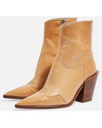 TOPSHOP - Howdie High Heel Ankle Boots - Lyst