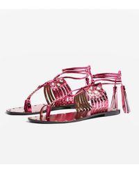 d55591263928 Soludos Ghillie Platform Sandals in Blue - Lyst