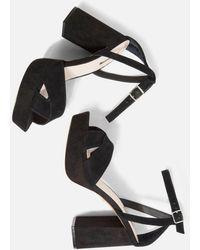 TOPSHOP - Wide Fit Leah Platform Heels - Lyst