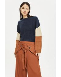 Native Youth - Colour Block Knitted Jumper By - Lyst