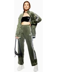 TOPSHOP - Velour Trackpants By Adidas - Lyst