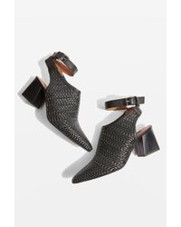 TOPSHOP - Nett Woven Pointed Shoes - Lyst
