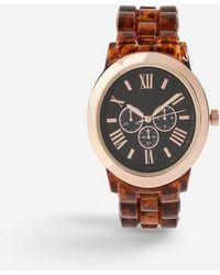 TOPSHOP - tortoishell Watch - Lyst
