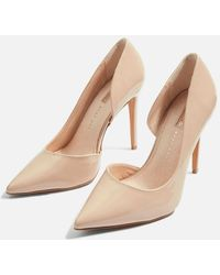 TOPSHOP - Wide Fit Gallery Leather Court Shoes - Lyst