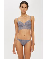 TOPSHOP - Lace Thong - Lyst