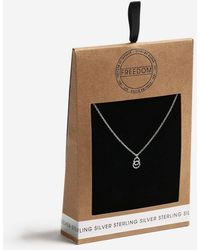TOPSHOP - Sterling Silver Twisted Link Necklace - Lyst