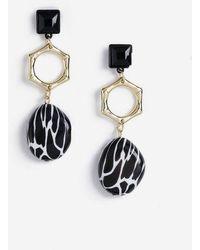TOPSHOP - Bamboo Link Drop Earrings - Lyst